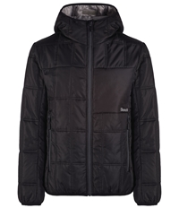 Sureness Wadded Hooded Snow Jacket Black