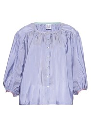 Thierry Colson Pandora Striped Silk Shirt