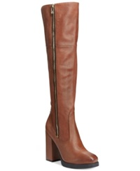 Circus By Sam Edelman Hollands Knee High Dress Boots Women's Shoes Cognac