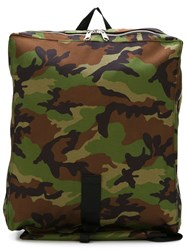 Comme Des Gara Ons Shirt Camouflage Print Backpack Green