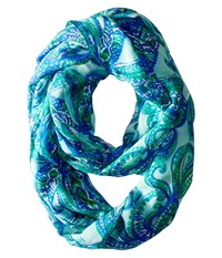 Lilly Pulitzer Riley Infinity Loop Rayon Poolside Blue Keep It Current Scarves