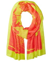 Liebeskind Dragon Scarf Burning Pink Dragon Scarves Yellow