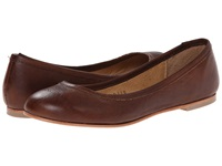 Type Z Carina Cognac Leather Women's Flat Shoes Brown