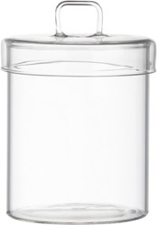 Cb2 Pincher Glass Canister With Lid