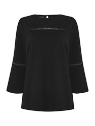 Therapy Libby Bell Sleeve Trim Detail Top Black