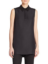 Rag And Bone Maude Sleeveless Silk Shirt Black
