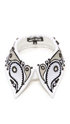 Holly Fulton Embellished Collar White Black