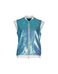 American Retro Coats And Jackets Jackets Women Turquoise