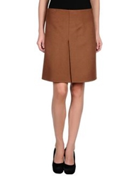 Salvatore Ferragamo Knee Length Skirts Brown