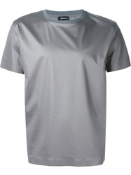 Jil Sander Round Neck T Shirt Grey