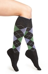 Sockwell Women's Argyle Compression Knee Socks Black