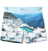 Orlebar Brown Bulldog Mid Length Printed Swim Shorts Blue