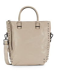 Elliott Lucca Studded Leather Tote Mist