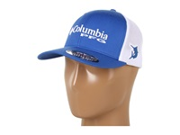 Columbia Pfg Mesh Ball Cap Vivid Blue White Caps