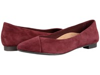 Vionic Gem Caballo Ballet Flat Merlot Women's Flat Shoes Red