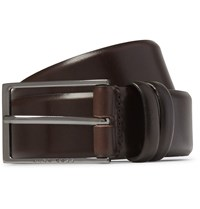 Hugo Boss Brown 3.5Cm Carmello Leather Belt Brown