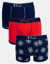 Pringle Anchor Trunks 3 Pack In Multi Multi