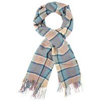 White Stuff Bronte Check Wool Scarf Multi
