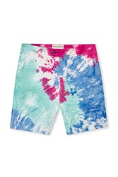 French Connection Tie Dye Highway Shorts Hot Pink