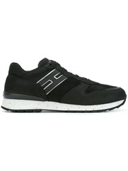 Hogan Rebel Logo Patch Sneakers Black
