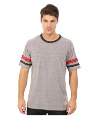 Matix Clothing Company Standard Check T Shirt Heather Grey Men's T Shirt Gray