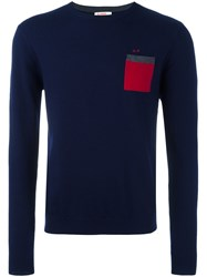Sun 68 Patch Pocket Jumper Blue