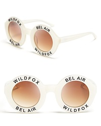 Wildfox Couture Wildfox Sunglasses Bel Air Pearl White