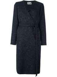 Hache Belted Coat Blue