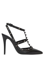 Valentino 100Mm Rockstud Rolling Leather Pumps