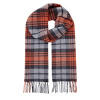 Jaeger Wool Cashmere Highlight Check Scarf Fox