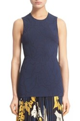 Cedric Charlier Floral Jacquard Tank Blue