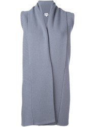 Armani Collezioni Long Sleeveless Cardigan Grey
