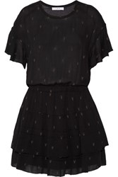 Iro Naelle Printed Gauze Dress Black