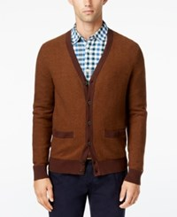 Tommy Hilfiger Men's Tobin Cardigan Bison Heather
