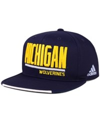 Adidas Michigan Wolverines Travel Flat Brim Snapback Cap