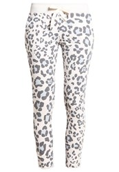 Juvia Tracksuit Bottoms Cream Anthra Ice Blue Off White