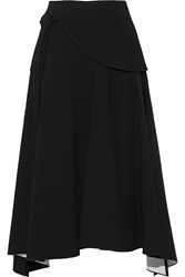 Derek Lam Asymmetric Stretch Crepe Midi Skirt