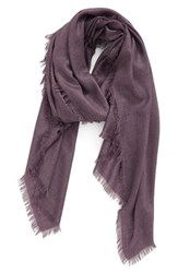 Nordstrom Women's Cashmere And Silk Wrap Purple Vintage