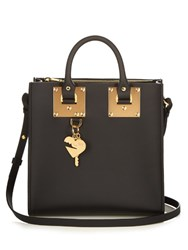 Sophie Hulme Square Albion Leather Tote Black