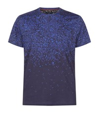 Ted Baker Fayded Printed T Shirt Male Blue