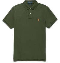 Polo Ralph Lauren Lim Fit Cotton Pique Hirt Army Green