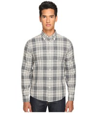 Jack Spade Palmer Heathered Double Face Plaid Button Down Grey Men's Clothing Gray