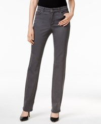 Charter Club Petite Lexington Slate Grey Wash Straight Leg Jeans Only At Macy's