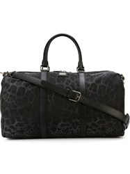 Dolce And Gabbana Leopard Print Holdall Black