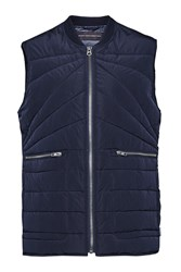 French Connection Spitfire Quilt Gilet Blue
