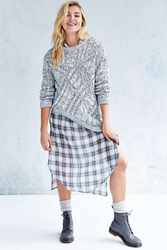 C Meo Collective All Nations Cableknit Sweater Grey