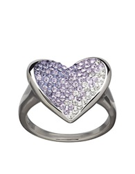 Lord And Taylor Sterling Silver Tanzanite Fade Crystal Ring Crystal Silver