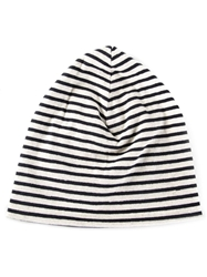 Engineered Garments Striped Beanie Hat Black