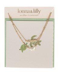 Lonna And Lilly Goldtone Envelope Pendant Necklace