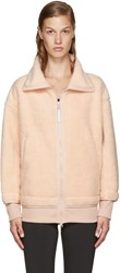 Adidas By Stella Mccartney Pink Teddy Fleece Sweater